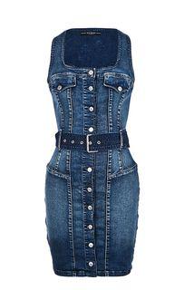 Приталенное джинсовое платье на болтах Guess