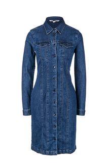 Джинсовое платье с отложным воротничком Tom Tailor Denim