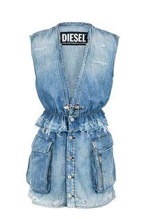 Джинсовое платье с карманами Diesel