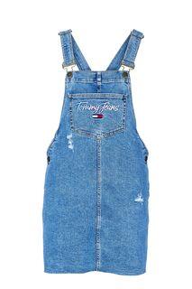 Синее джинсовое платье с декоративными потертостями Tommy Jeans