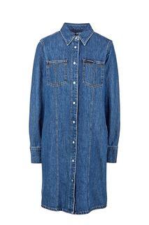Синее джинсовое платье-рубашка Calvin Klein Jeans