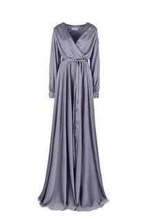 Длинное серое платье в вечернем стиле Alisia HIT