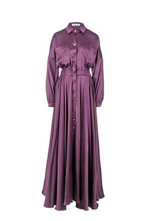 Вечернее платье-рубашка с карманами Alisia HIT