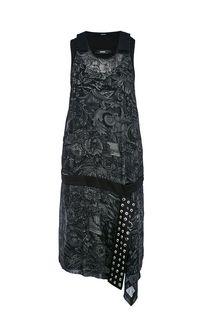 Платье оригинального кроя с цветочным принтом Diesel