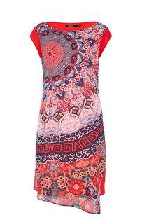 Разноцветное платье с короткими рукавами Desigual