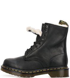 Утепленные кожаные ботинки Dr. Martens