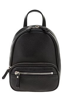 Маленькая кожаная сумка на двухзамковой молнии Fabretti