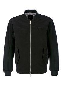 Легкая черная куртка-бомбер на молнии Armani Exchange