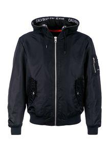 Куртка-бомбер с хлопковым капюшоном Calvin Klein Jeans