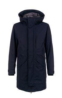 Удлиненная куртка синего цвета Didriksons