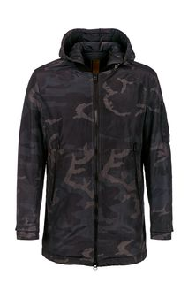 Куртка-бомбер в стиле милитари на молнии и кнопках La Biali