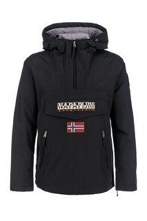 Черная куртка-анорак с капюшоном Napapijri