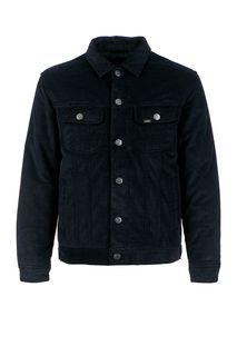 Синяя вельветовая куртка с карманами Lee