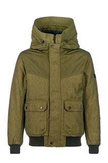 Куртка-бомбер цвета хаки с капюшоном Tom Tailor Denim