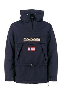 Синяя куртка-анорак с капюшоном Napapijri