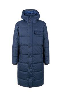 Длинная куртка синего цвета Kyoto Coat Jack Wolfskin