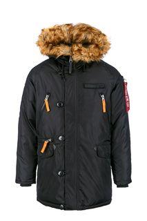 Куртка на молнии и пуговицах с карманами Alpha Industries