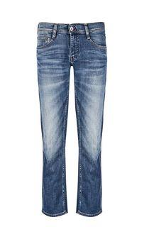 Синие слегка зауженные джинсы с низкой посадкой Oregon Straight Mustang