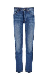 Слегка зауженные синие джинсы со стандартной посадкой United Colors of Benetton