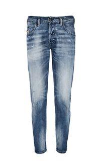 Рваные джинсы зауженного кроя D-Bazer Diesel