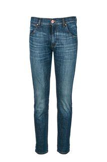Зауженные джинсы с заломами Larston Wrangler