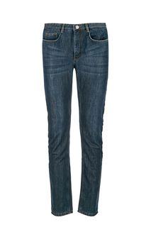 Утепленные зауженные джинсы с заломами La Biali