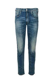 Зауженные джинсы с заломами Anbass Replay