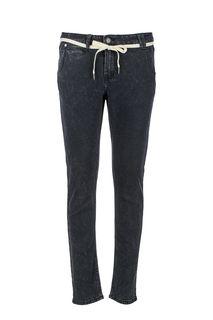 Зауженные джинсы серого цвета Skills