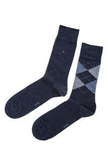 Комплект из двух пар высоких хлопковых носков Tommy Hilfiger