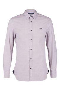 Фиолетовая хлопковая рубашка приталенного кроя Guess