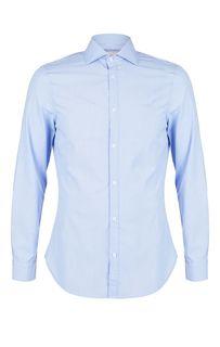 Приталенная синяя рубашка на пуговицах Guess