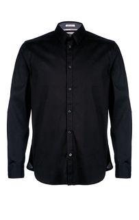 Черная хлопковая рубашка с длинными рукавами Guess