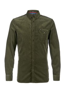 Хлопковая рубашка зеленого цвета Guess