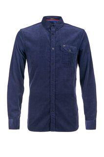 Хлопковая рубашка синего цвета Guess