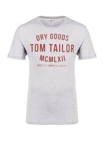 Хлопковая футболка с принтом Tom Tailor