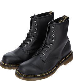 Высокие кожаные ботинки черного цвета Dr. Martens
