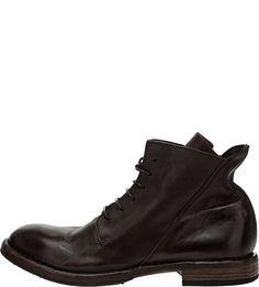 Коричневые кожаные ботинки Moma