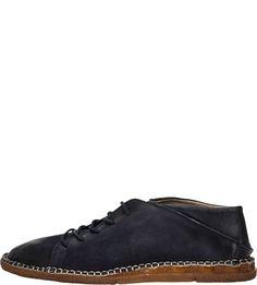 Кожаные ботинки синего цвета A.S.98