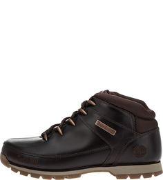 Коричневые кожаные ботинки Euro Sprint Mid Hiker Timberland