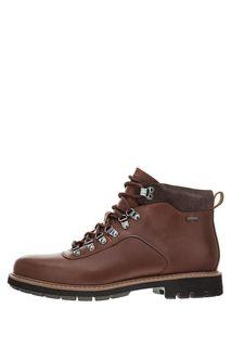 Коричневые кожаные ботинки с мембраной Gore-Tex® Clarks