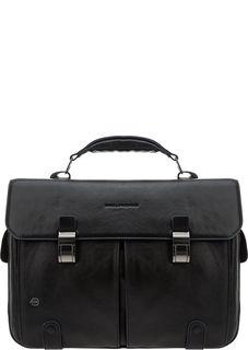 Кожаный портфель с двумя отделами Piquadro