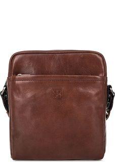 Маленькая кожаная сумка с карманами Sergio Belotti