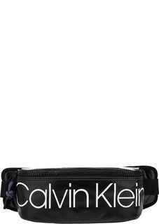 Текстильная поясная сумка с принтом Calvin Klein Jeans