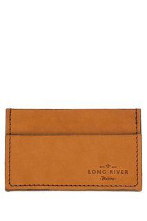 Бежевая визитница из натуральной кожи Long River
