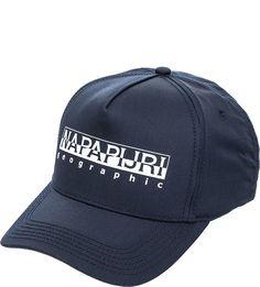 Темно-синяя бейсболка с логотипом бренда Napapijri