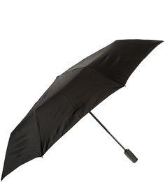 Складной автоматический зонт с куполом черного цвета Eleganzza