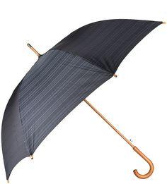 Зонт-трость в клетку с деревянной ручкой Goroshek