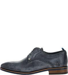 Кожаные туфли дерби синего цвета Rehab Footwear