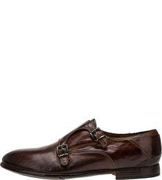 Кожаные туфли монки коричневого цвета Lemargo