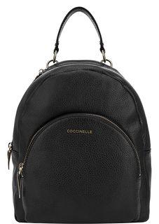 Черный рюкзак из зерненой кожи Alpha Coccinelle